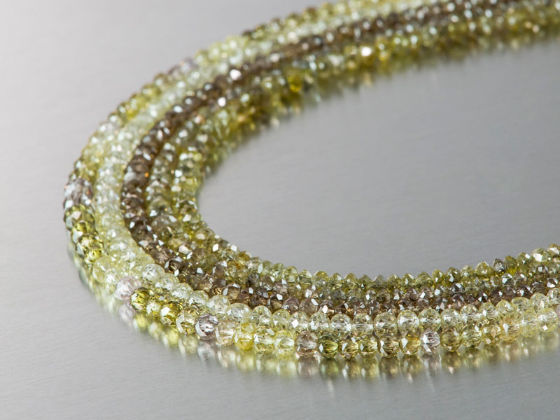Diamond bead necklaces